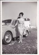 PHOTO ORIGINALE. VOITURE 4 Ch RENAULT. ANNEE 1962. FORMAT 12 X 8.3 Cm - Automobili