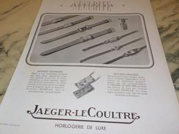 ANCIENNE PUBLICITE COLLECTION JAEGER-LECOULTRE 1938 - Jewels & Clocks