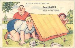 Villes Système Dépliant – Les Baux De Provence ( Tente, Camping ) - Les-Baux-de-Provence
