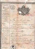 1828 - PASSEPORT DE L'INTÉRIEUR Pour Aller De D'ANSIGNAN (66) à AUZAS (31) - Documents Historiques