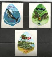 Tonga - 1978 Endangered Species (Air Officials) Set Of 3 MNH **    SG O184-6  Sc CO150-2 - Tonga (1970-...)