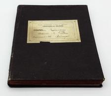 Cahier Manuscrit D'élève, Cours De Mécanique, Arts Et Métiers. - Chalons-sur-Marne, 1908-1909 - Libros, Revistas, Cómics