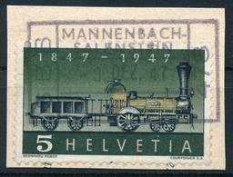 277 / 484 Mit Passendem Bahnstempel SBB - MANNENBACH-SALENSTEIN (Thurgau) Auf Ausschnitt - Suisse