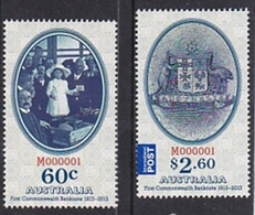 Australia ASC 3103-3104 2013 Centenary Of First Banknote Set 2 MNH - Mint Stamps