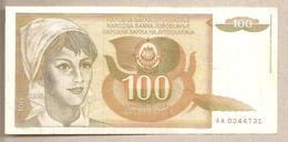 Jugoslavia - Banconota Circolata Da 100 Dinari P-105a - 1990 - Jugoslavia
