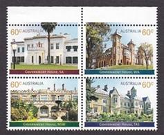 Australia ASC 3109-3112 2013 Historical Architecture, Government Houses Set MNH - 2010-... Elizabeth II