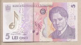 Romania - Banconota Non Circolata FdS Da 5 Lei P-118g - 2014 - Romania
