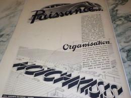 ANCIENNE PUBLICITE VOITURE HOTCHKISS PASSION 1938 - Voitures