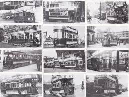 AR69 Collection Of 20 Small Photographs Of British Trams - Reproductions