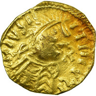 Monnaie, France, Redonis, Judicael, Triens, Rennes, Extremely Rare, TTB+, Or - 470-751 Monnaies Mérovingiennes