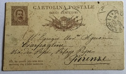 Cartolina Postale 10 Centesimi - 1878-00 Umberto I