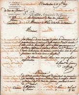1809 - MONTAUBAN - PRISONS - L.S. Jb RUFFAT, Commissaire Des Guerres Au Départ. Du Tarn & Garonne Pour VALENCE - Documentos Históricos