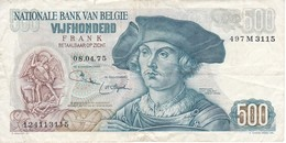 BILLETE DE BELGICA DE 500 FRANCOS DEL 08-04-1975 DE BENARD VAN ORLEY  (BANKNOTE) - [ 2] 1831-... : Reino De Bélgica