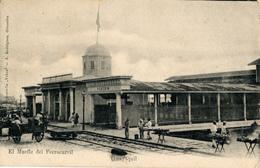 Guayaquil, Muelle Ferrocarril, Estampilla Colombia Panama 2 Centavos, 1905 - Ecuador