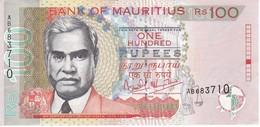 BILLETE DE MAURICIO DE 100 RUPIAS DEL AÑO 1999 EN CALIDAD EBC (XF)  (BANKNOTE) - Mauricio