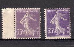 FRANCE - YT N° 136a(I)-(tres Bon Centrage +40%)-  Et 142 - Neuf **  - MNH - Cote:948,00 € - Francia