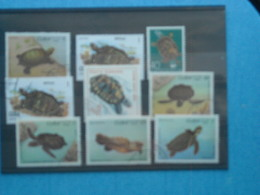 TORTUE -lot De 9 Timbres Tortues -(2 Neufs Xx Reste  Oblitérés - Turtles