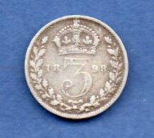 Grande Bretagne -- 3 Pence 1898 -  état  TB - 1816-1901 : Frappes XIX° S.