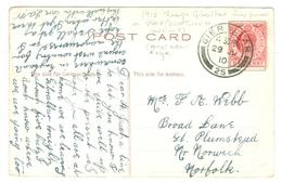 1910, Gibraltar, Fine Postmark, On USA McAdoo Tunnel New York Pc. - Gibraltar