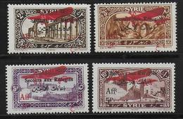 SYRIE - POSTE AERIENNE YVERT N° 34/37 ** - COTE = 24 EUROS - - Unused Stamps
