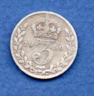 Grande Bretagne -- 3 Pence 1890 -  état  TB - 1816-1901 : Frappes XIX° S.
