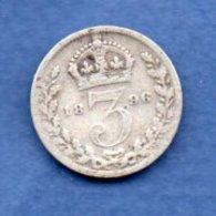 Grande Bretagne -- 3 Pence 1896 -  état  TB - 1816-1901 : Frappes XIX° S.