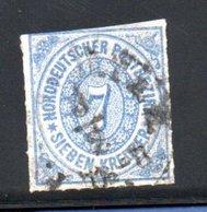 Conf. De L'Allemagne Du Nord  / N 10 / 7 K Bleu / Oblitéré  / Côte 15 € - Conf. De L' All. Du Nord