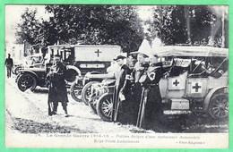 PRETRES BELGES D'UNE AMBULANCE AUTOMOBILE - Guerre 1914-18