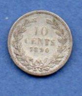 Pays Bas --  10 Cents 1890   - --  état  TB - [ 3] 1815-… : Kingdom Of The Netherlands