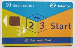 P 25 , Promotion Card DNB Start , Print Rate 11000 , Unused - Norway