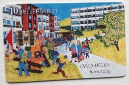 P 12 , Promotion Card ,Orebakken , Print Rate 2000, Unused - Norway
