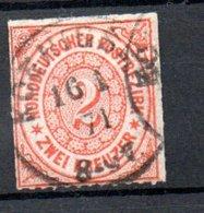 Conf. De L'Allemagne Du Nord  / N 8 /  2K Orange / Oblitéré / Côte 55 € - Conf. De L' All. Du Nord
