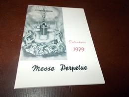 B692  Calendarietto Messe Perpetue 1979 Cm12,8.5 - Calendari