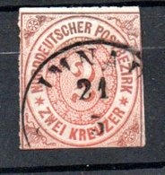 Conf. De L'Allemagne Du Nord  / N 8 /  2K Orange / Oblitéré / Côte 55 € - Norddeutscher Postbezirk