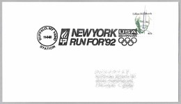 NEW YORK RUN FOR '92 - BARCELONA'92. Buffalo NY 1990 - Summer 1992: Barcelona