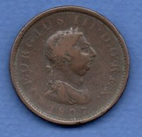 Grande Bretagne  -  1 Penny  1807  -- état  TB - 1662-1816 : Anciennes Frappes Fin XVII° - Début XIX° S.