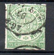 Conf. De L'Allemagne Du Nord  / N 2 /  1/3 G Vert  / Oblitéré - Conf. De L' All. Du Nord