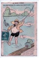 """Humour Pêche : Le Joyeux Pêcheur """"mes Asticots... La Paire"""" Xavier Sager Illustrateur (cp Abimée) - Sager, Xavier"""