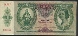 °°° HUNGARY - 10 PENGO 1936 °°° - Ungheria
