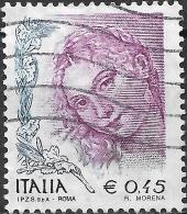 """ITALY 2002 Women In Art - 45c """"Venere Di Urbino"""" (Tiziano Vecellio) FU - 6. 1946-.. República"""
