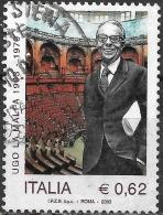ITALY 2003 Birth Centenary Of Ugo La Malfa (politician) - 62c Ugo La Malfa And Chamber Of Deputies Assembly Hall FU - 6. 1946-.. Repubblica