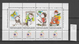 35K747 / ISRAEL  - World Stamp Exhibition , 1998 TEL AVIV , Butterflies Moths Motorbikes Moto CINDERELLA LABEL VIGNETTE - Erinofilia