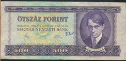 °°° HUNGARY - 500 FORINT 1980 °°° - Ungheria