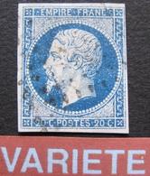 R1752/556 - NAPOLEON III N°14A - VARIETE ☛ Fond Du Timbre étoilé - 1853-1860 Napoleon III