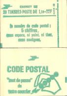 """CARNET 2058-C 1a Sabine De Gandon """"CODE POSTAL"""" Daté 9/8/79 Fermé Parfait état TRES RARE - Usage Courant"""