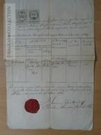 DC53.8   Old Document  - Béla - Belá (Slovakia) Nitra - András Mituria -Zentko  1861 - Unclassified