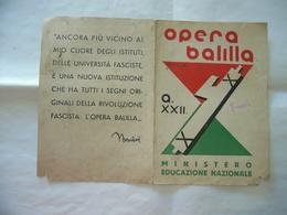 PAGELLA OPERA BALILLA SCUOLA BRENNO USERIA ARCISATE MALNATE VARESE  FRATELLO 1944 - Diplomi E Pagelle
