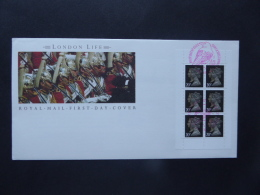 GREAT BRITAIN [UK] SG DX11  LONDON LIFE BOOKLET PANE FDC - FDC