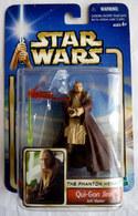 STAR WARS 2002 BLISTER ATTACK OF THE CLONE  QUI-GON JINN Jedi Master - Episode II