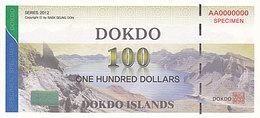 Specimen Île DOKDO Corée 100 Dollars 2012 UNC - Fictifs & Spécimens